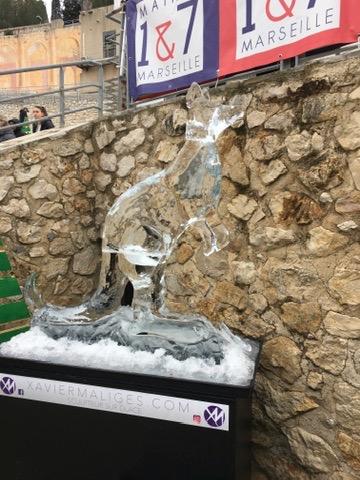 Sculpture sur glace France