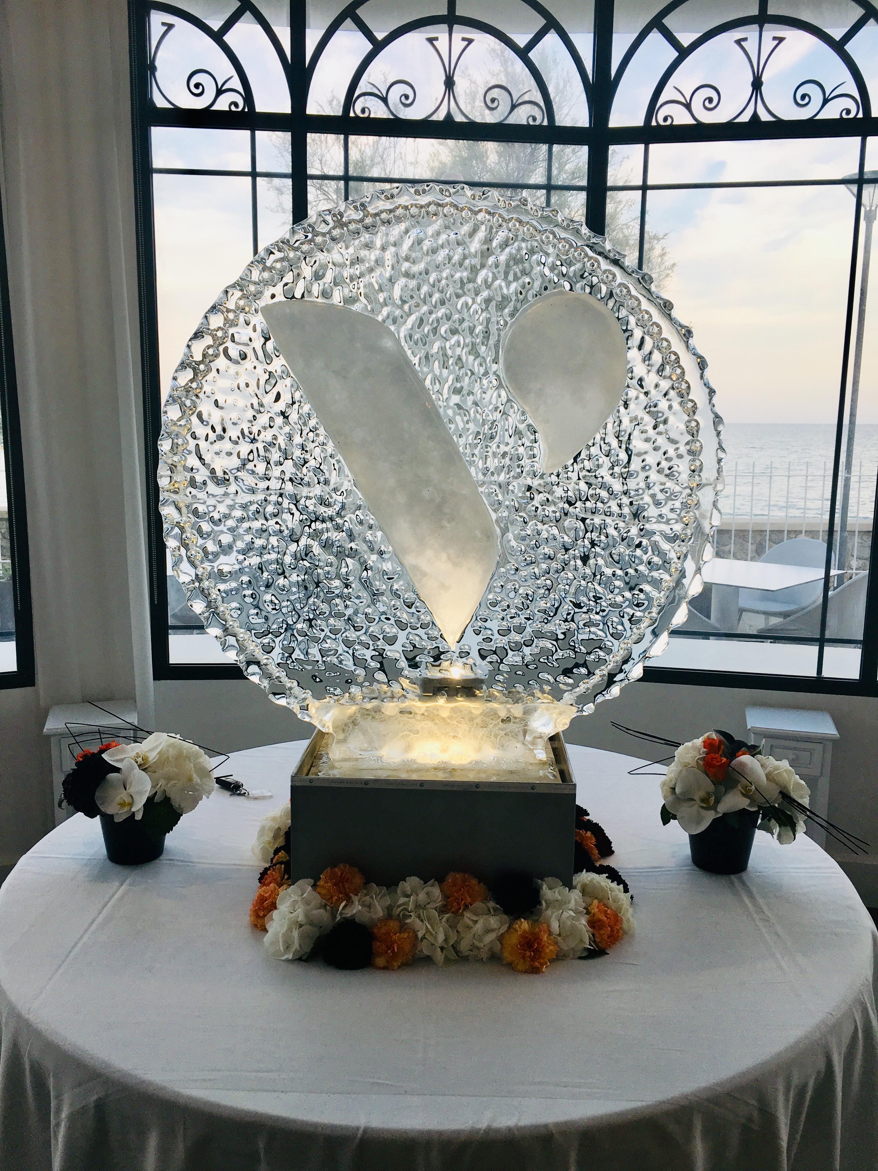 Sculpture sur glace, Cannes