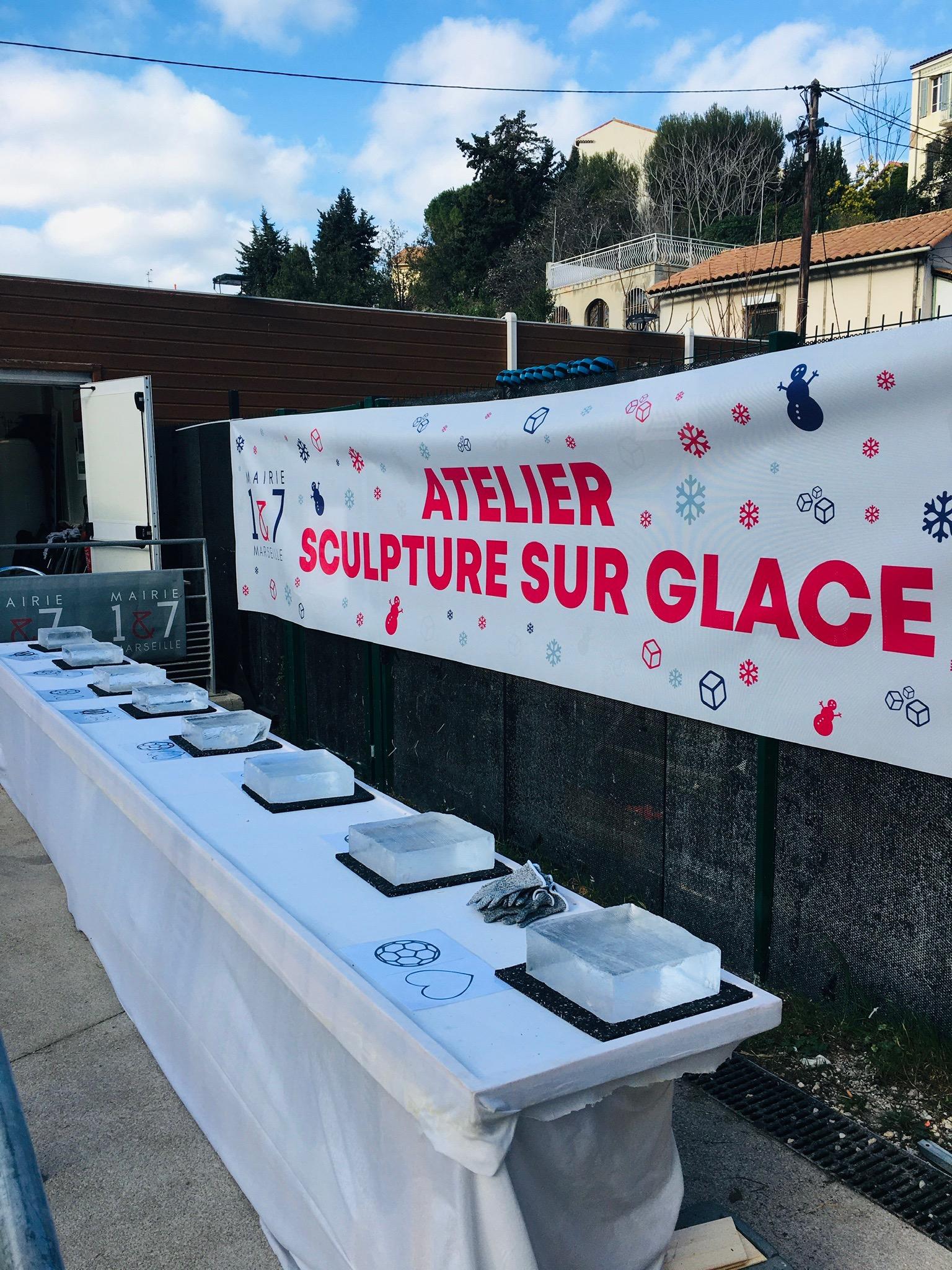 Atelier sculpture sur glace France