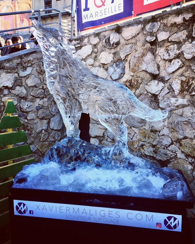 Sculpture sur glace France, ice