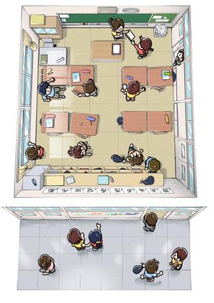 教室・廊下の俯瞰図
