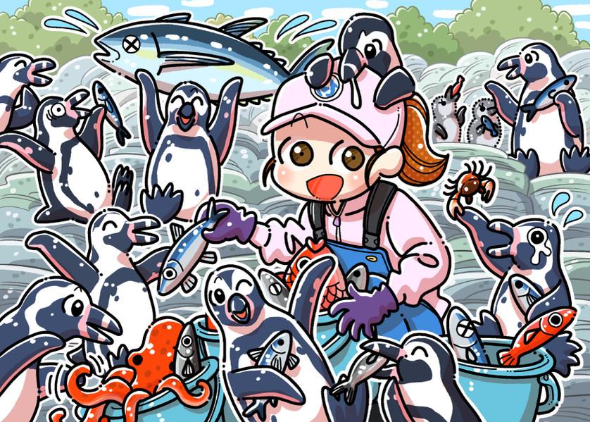 ペンギンの飼育員