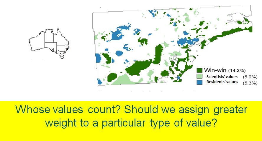 Comparing residents' and scientists' values for conservation in the Lower Hunter region of NSW, Australia