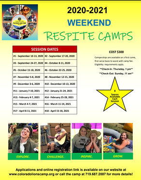 CLC 2020-2021 Respite Weekend