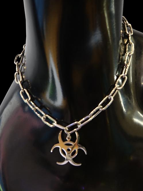 Bio Hazard Chain Necklace