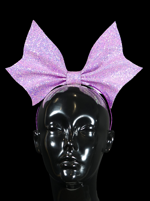 Lilac Sparkly Bow