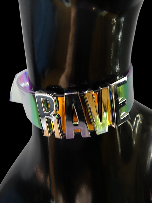 Rave Holographic Choker