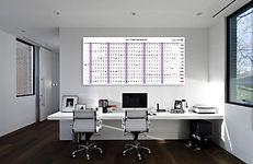 לוח תכנון שנתי מחיק 2018 משרדי