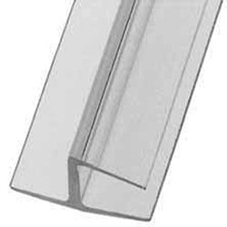 "IPS3 CLEAR CENTRAL 180 DEGREE WEATHER SEAL FOR 3/8"" GLASS"