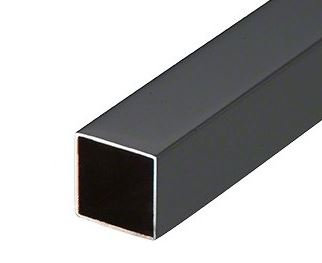 ISQHRP1121904BL Matte Black Stainless Steel Square Tubing 40x40x 2.0mm 19 FT.