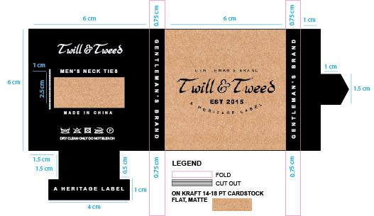 Twill and Tweed Ties Packaging 2017 DIMS