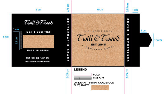 Twill and Tweed Bow Ties Packaging 2017