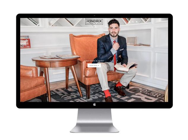 H3ndrix Homepage UI