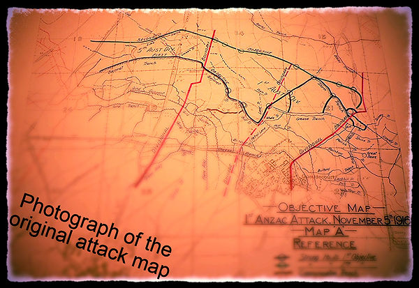 November 5th 1916 attack map
