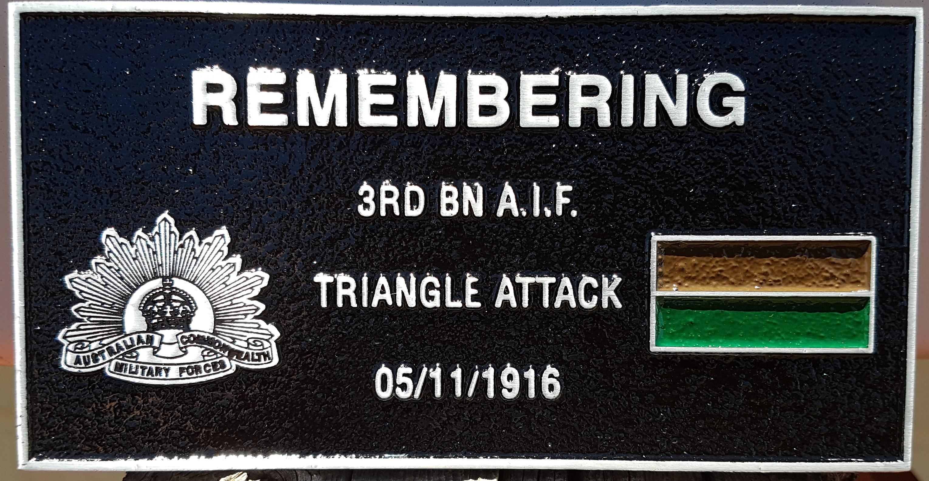 3rd Battalion plaque, Gueudecourt