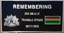 3rd Battalion plaque
