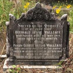 Reginald WALLGATE Headstone