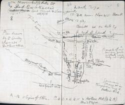 Charles Bean hand-drawn map