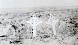 Battlefield Grave and Cross