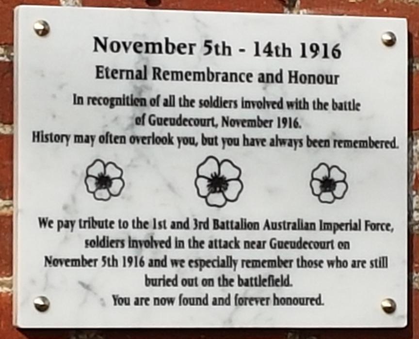 100th anniversary plaque