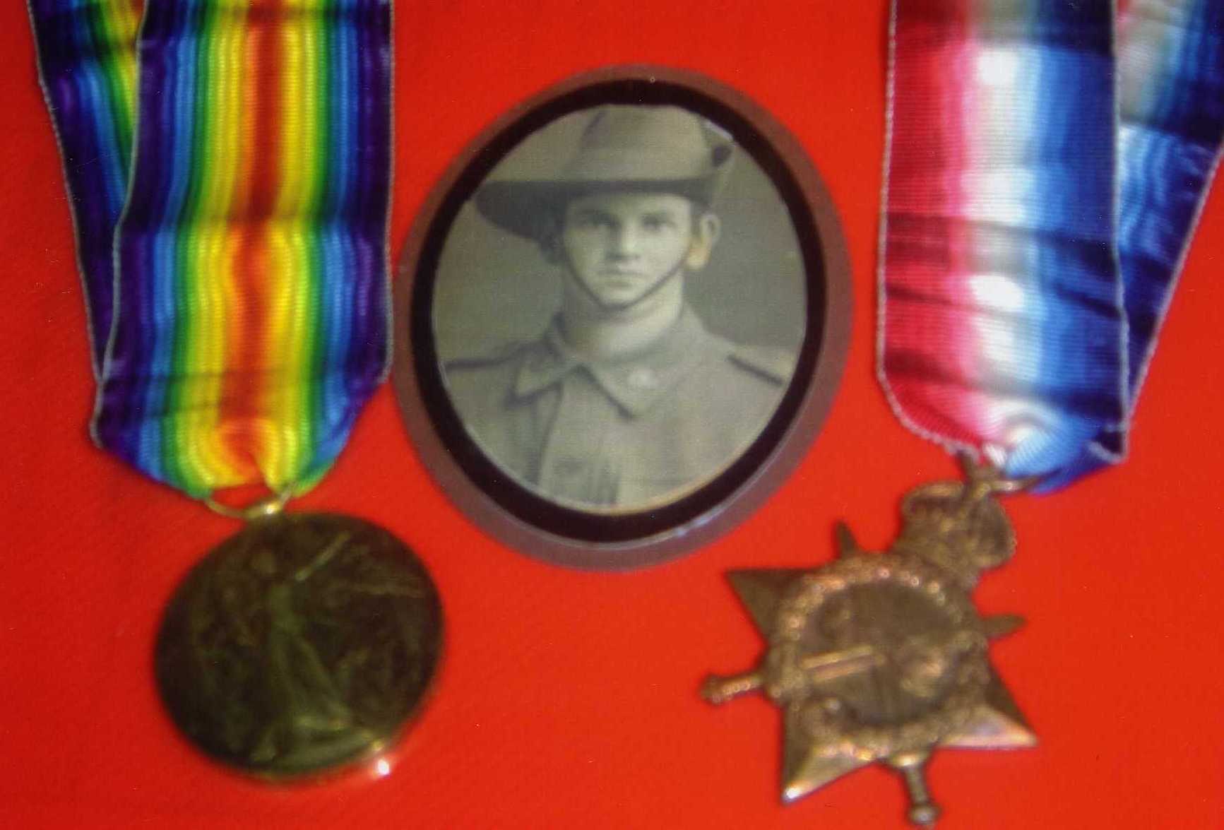 William's photograph and medals