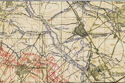 German Trench Map