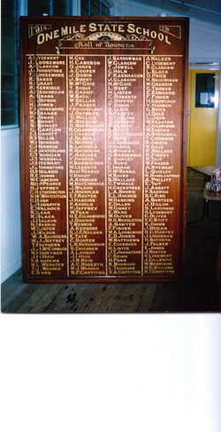 One Mile State School Honour Roll