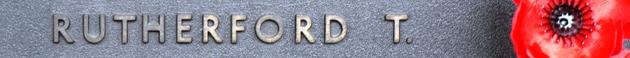 Thomas' name on the AWM Wall