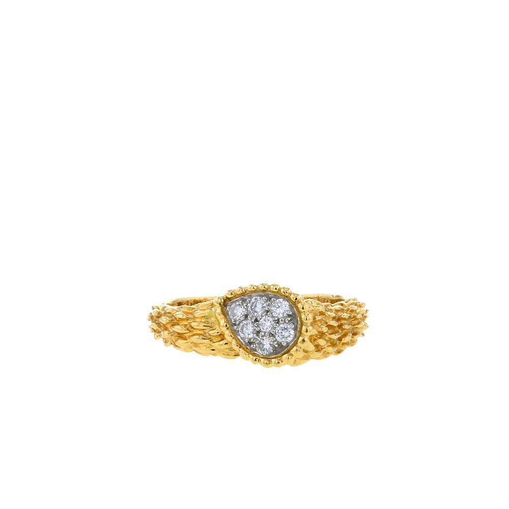 Bague Boucheron collection Serpent Bohème en or jaune et diamants
