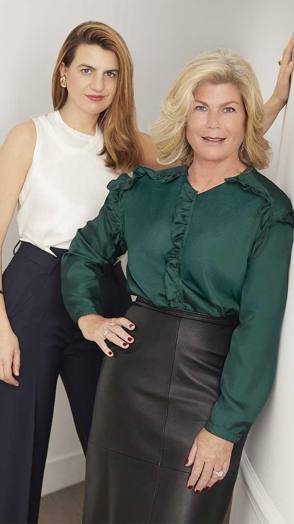 Portrait de la designer Annelise Michelson et Valérie Samuel, Directrice Artistique et Vice-Présidente de FRED
