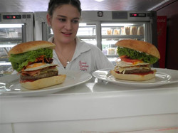 Two Sweet painted lady burgers