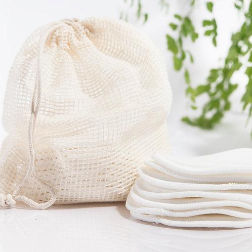 Organic Reusable Cotton Rounds - Set of 16