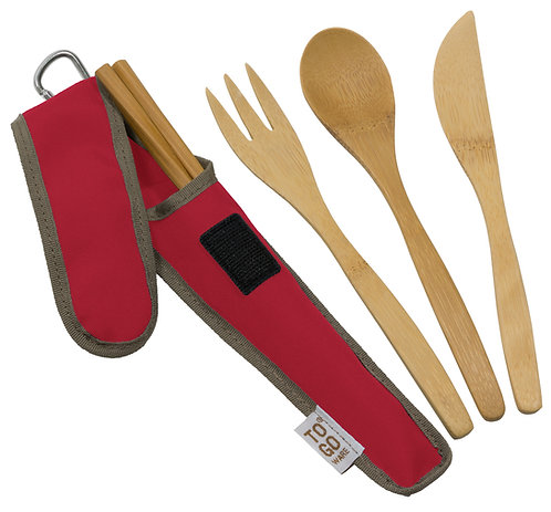 Bamboo Cutlery Set - multiple colors