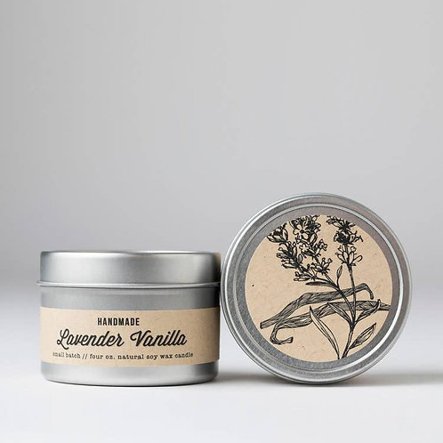 Soy Candle in Lavender Vanilla, Hibiscus Patchouli, Cedarwood Amber