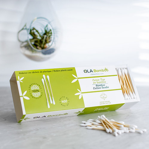Biodegradable Cotton Swabs - pack of 400