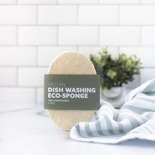 Dish Washing Eco-Sponges - 3 Pack
