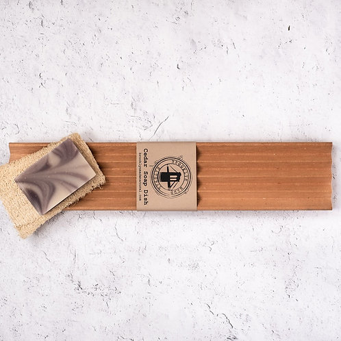 Extra Long Cedar Wood Soap Dish
