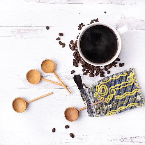 Olive Wood Coffee Spoon Set