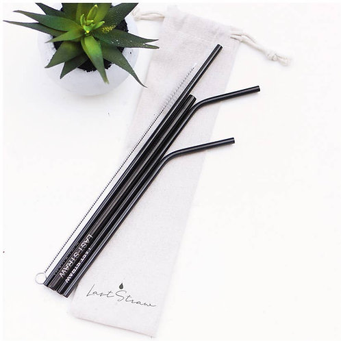 Stainless Steel Straw Set - multiple colors