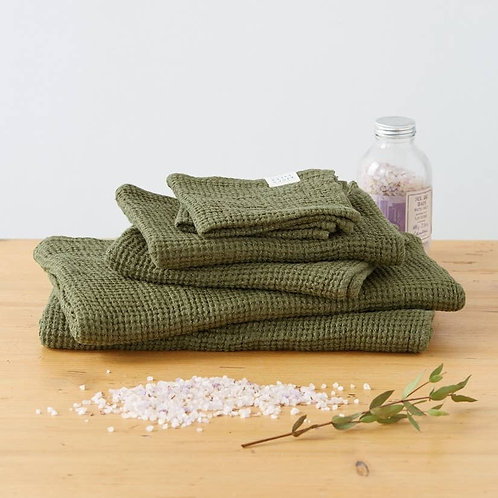 Waffle Towel in Martini Olive