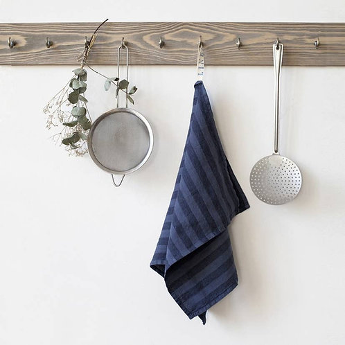 Linen Dish Towel with Stripes