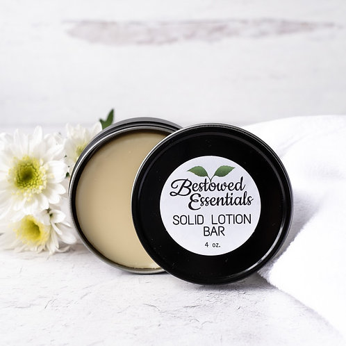 Solid Lotion Bar in Metal Tin