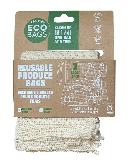 Medium Mesh Produce Bags 3-Pack