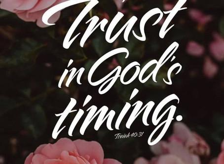 Trust in God's Timing!!