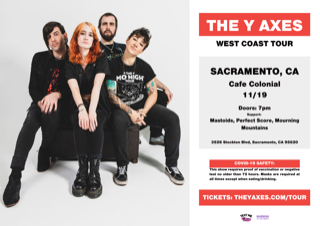 Nov 19th - The Y Axes, Mastoids, Perfect Score and Mourning Mountains