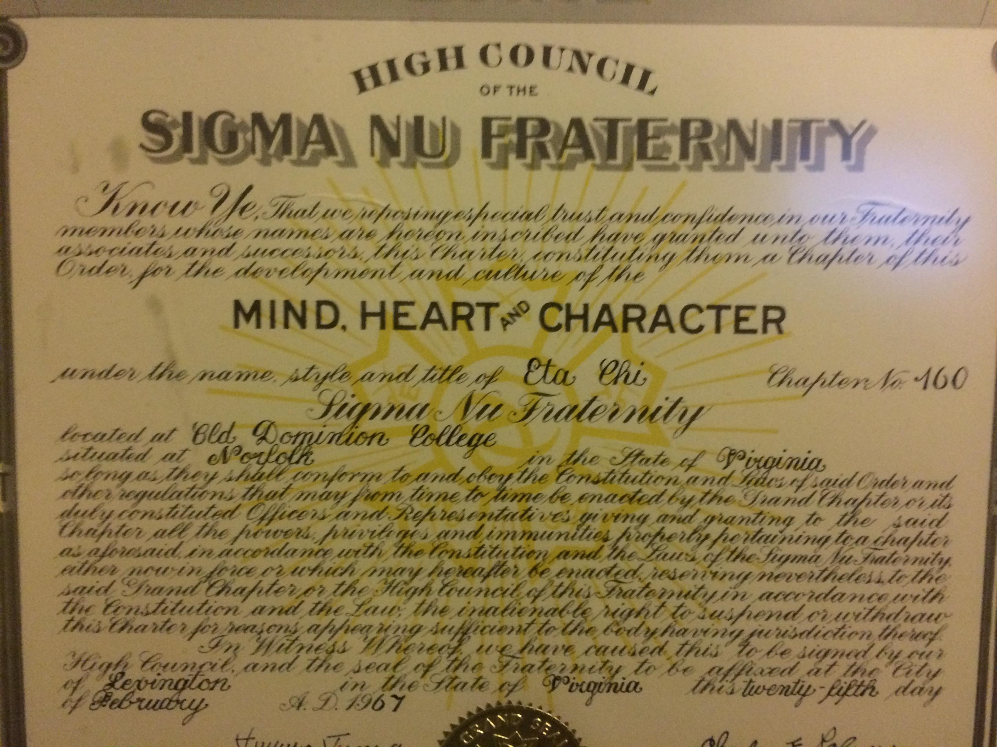 Charter Statement