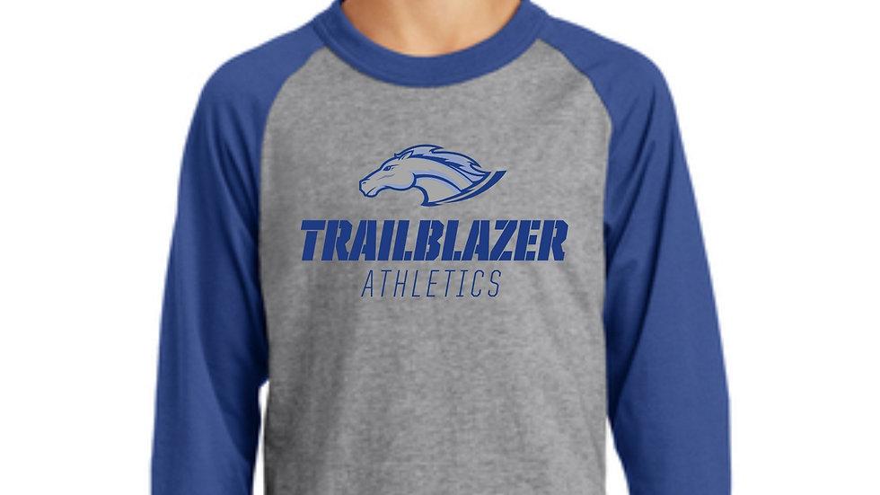 3/4 Sleeve Trailblazer Athletics Raglan T-Shirt