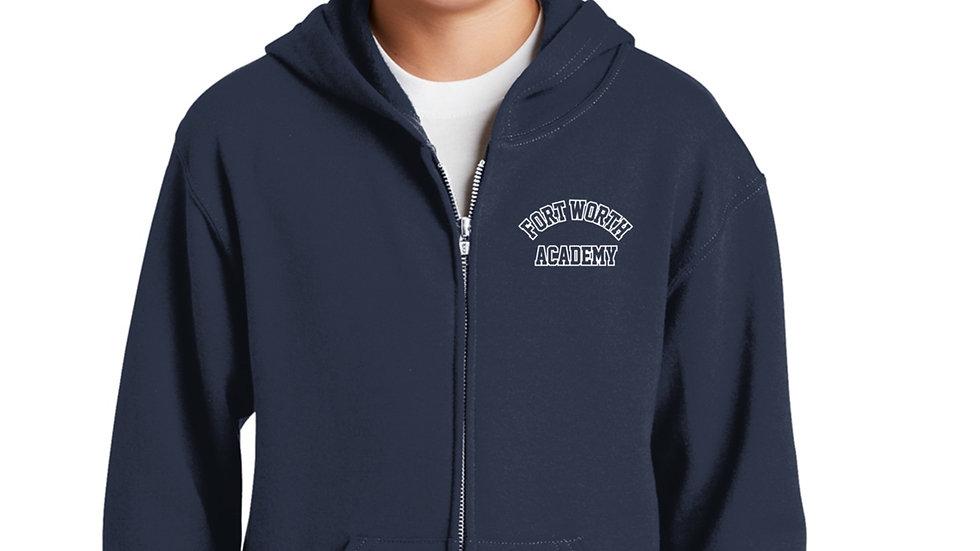 Full Zip Navy Blue Fort Worth Academy Hoodie