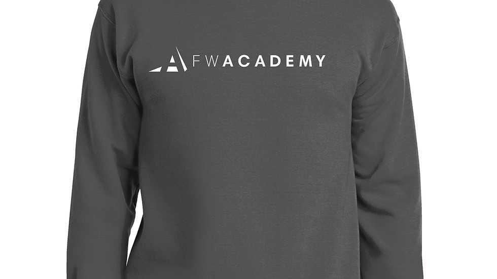 Fort Worth Academy White Logo Sweatshirt