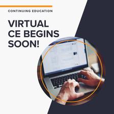 Virtual CE Begins Soon!